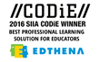 Edthena Takes Teacher PD Triple Crown, Wins CODiE Award for Best Professional Learning Solution