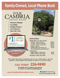 Cambria Phone Book rate card