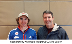 Sean Doherty, Biathlete with Rapid Insight CEO, Mike Laracy