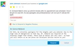 Vendasta's easy to use review response