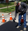 CDO RoadTag RFID technology helps workers identify street cut information.  (Photo Provided)