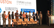 Jamie Swyers (third from left), Liberty University's associate director for fitness and programs, was on stage for Thursday's presentation at the Building a Healthier Future Summit in Washington, D.C.