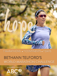 BethAnn Telford, Brain Cancer Survivor and Ironman Athlete Will Compete in the 2017 World Marathon Challenge to Benefit ABC2 (Accelerate Brain Cancer Cure).