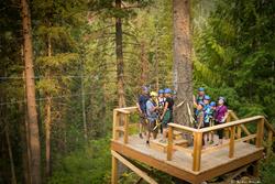 Kokanee Mountain Zipline is the only ziplining operation in the Kootenay Mountains