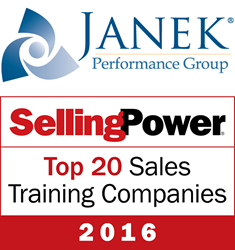 Janek Performance Group named a 2016 Selling Power Top 20 Sales Training Company
