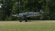 The Military Aviation Museum's Bf 109 safely touches down following its first test flight.