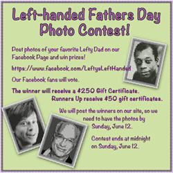 Photo of Lefty Dad Contest