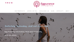 Eggsurance Egg Freezing Education and Community Website