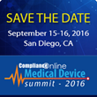 ComplianceOnline to Host 2nd Annual Medical Device Summit 2016 on September-15-16, 2016 in San Diego, CA