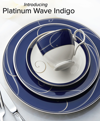 Platinum Wave Indigo by Noritake