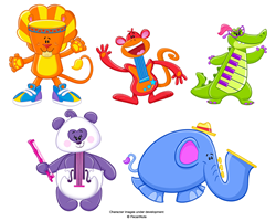 GAKKIMALS inspires early childhood learning with a fun cast of endearing characters!