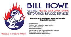 bill howe plumbing, san diego, hiring