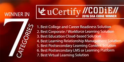 uCertify-CODiE Awards Winner