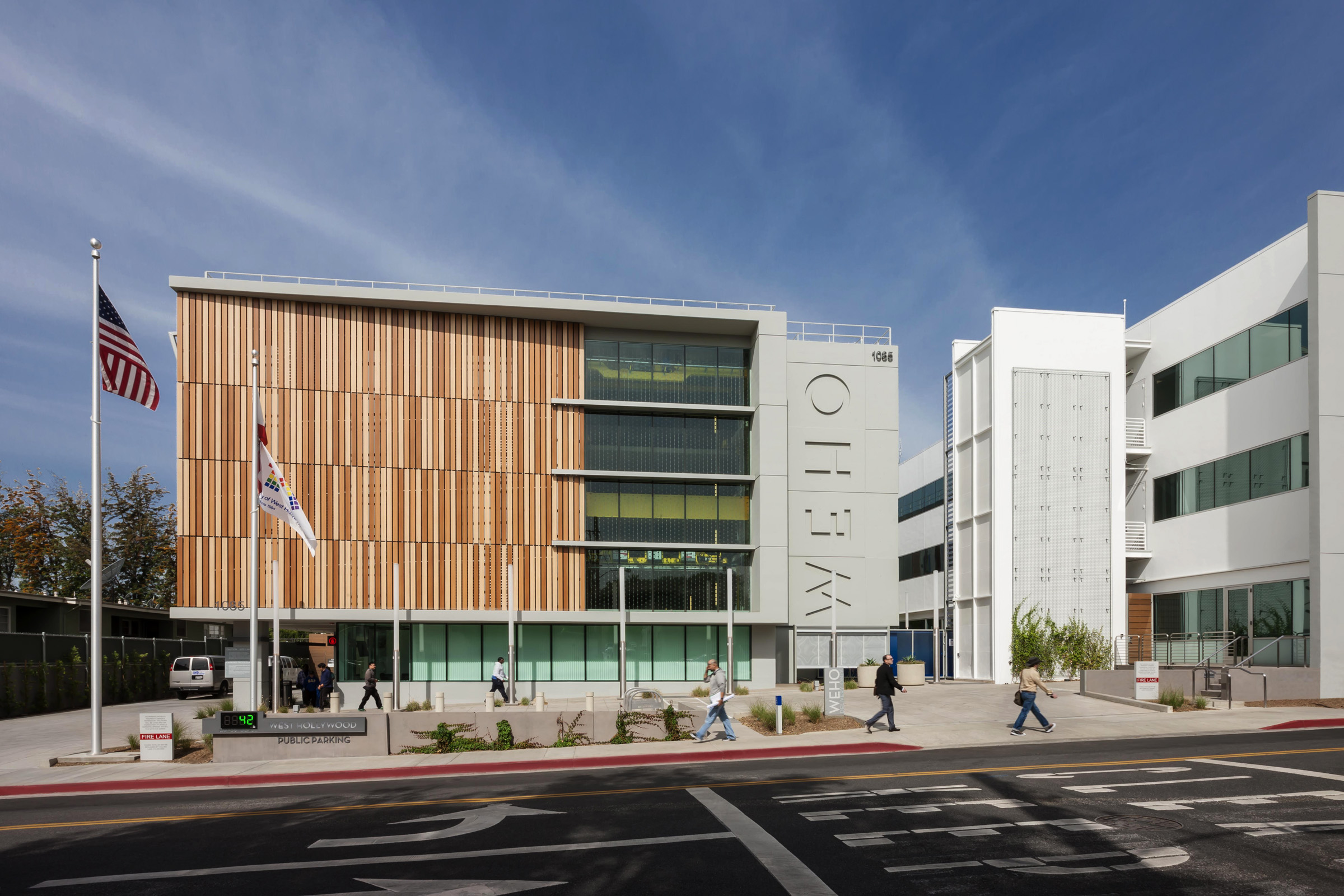 West hollywood debuts automated parking garage designed by lpa inc.