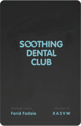 soothing dental club card image