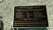 The plaque that will be on the memorial marking the underwater crash site of six WWII crewman lost in November 1942.
