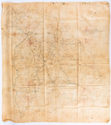 Unrecorded Civil War Jefferson Davis Pursuit & Capture Map