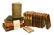"17th to 19th century, silk and leather bindings, to include: ""Works of Mr. Abraham Cowley"" (1674); ""Vortigern"" by W. H. Ireland (1832); and ""Etiquette at Washington."""