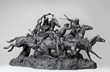 Frederic Remington, Dragoon soldiers, bronze scupture, horses, Legacy,  Indigenous Americans, Western art, Western frontier, cowboys, soldiers, explorers, 19th century American West, culture clash, Sid W. Richardson, Sid W. Richardson Foundation, Sundance