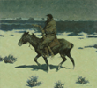 The Luckless Hunter, Frederic Remington,Oil on canvas, Sid Richardson Museum, Indigenous Americans, 19th century American West, Fort Worth, Texas, Sundance Square