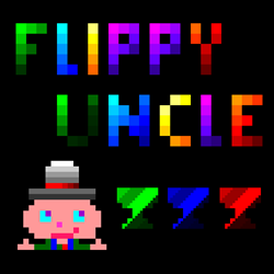 Flippy Uncle has multiple levels of increasing difficulty with different themes and obstacles.