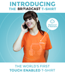 Broadcast Wearables launches touch enabled, programmable t-shirt
