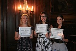 Emma Rose Martin, Gina Gatti, and Renate Kurth receive their awards at LICAB'S 3rd Annual Golf Outing Sponsored by Goldstein and Bashner