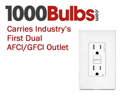 1000Bulbs.com Carries Industry's First Dual AFCI/GFCI Outlet