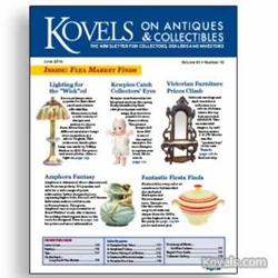 kovels, antiques, collectibles, kewpies, furniture, amphora, fiesta