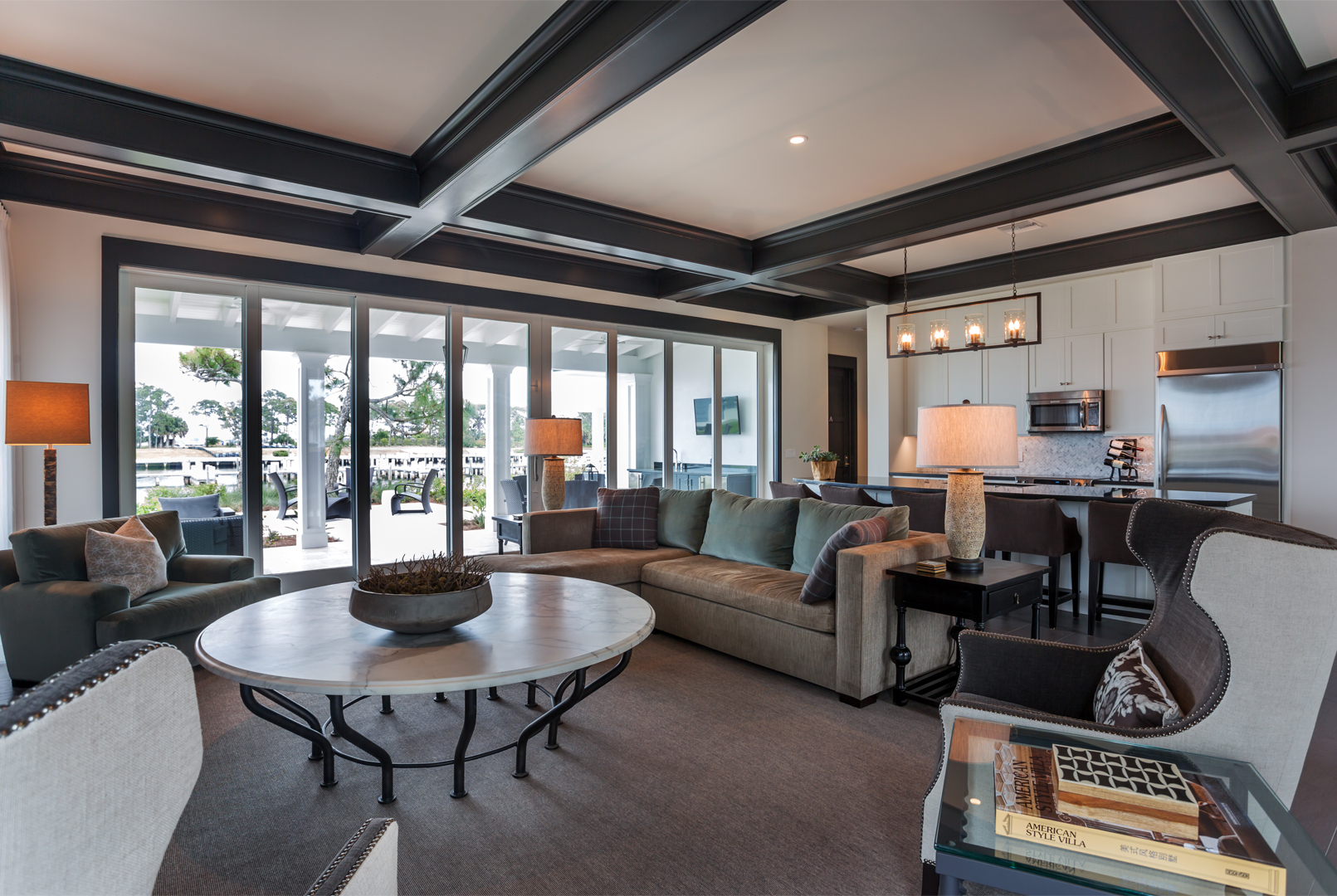 Firm sets unprecedented us record for award winning for Model home interior design firms
