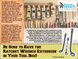 The Ratchet Wrench Extension is a utility patent that features an improved design for the traditional socket wrench.