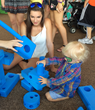At the These Kids Can Play! charity event hosted by The PGA TOUR Wives Association, kids with disabilities were able to play and build with Imagination Playground blocks.