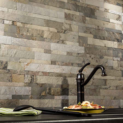 Medley Slate stone backsplash