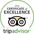 New Life Hiking Spa Earns a 2016 TripAdvisor Certificate of Excellence