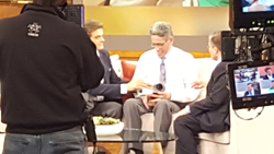 Dr. Oz is alarmed by Ted's blood pressure reading