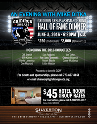 Gridiron Greats Hall of Fame Dinner