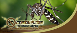 The Camouflage Insect Wipes will prevent insects and even some animals from getting close while outdoors.