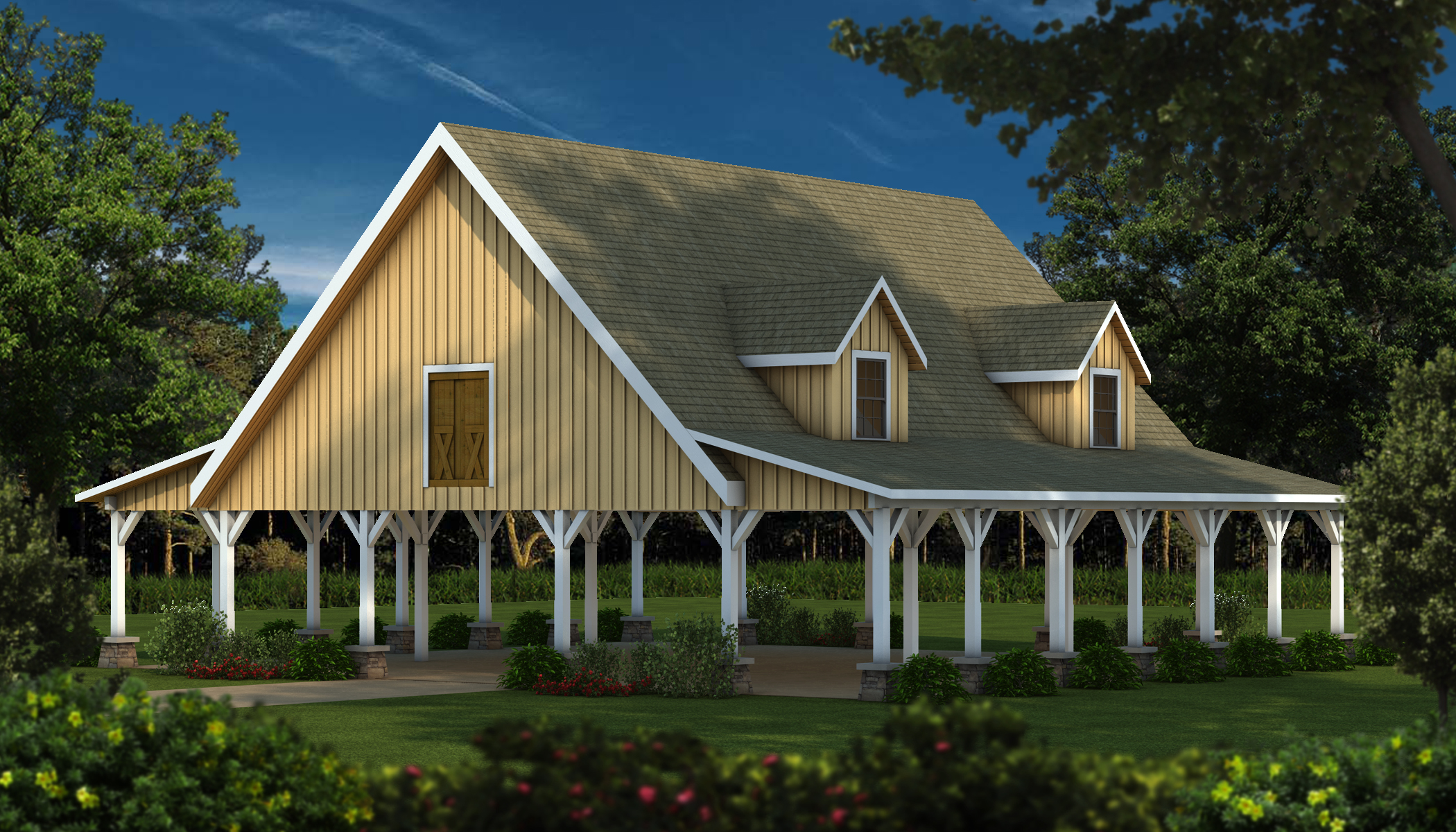Southland launches classic wood barn kits for Wood barn homes