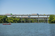 Artist rendering of proposed double-deck bridge that would be added to the existing Mopac bridge over Lady Bird Lake.