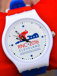 The special edition wristwatch features the RNC's iconic elephant logo, as well as a guitar in homage to Cleveland's legendary rock and roll heritage.