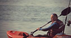 kayak fisherman on the water