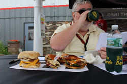 Judge Eating Burgers At 2014 New York Bull Burger Battle At Best In  Backyards In Mahopac