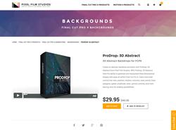 Final Cut Pro X - ProDrop 3D Abstract - Pixel Film Studios Plugin