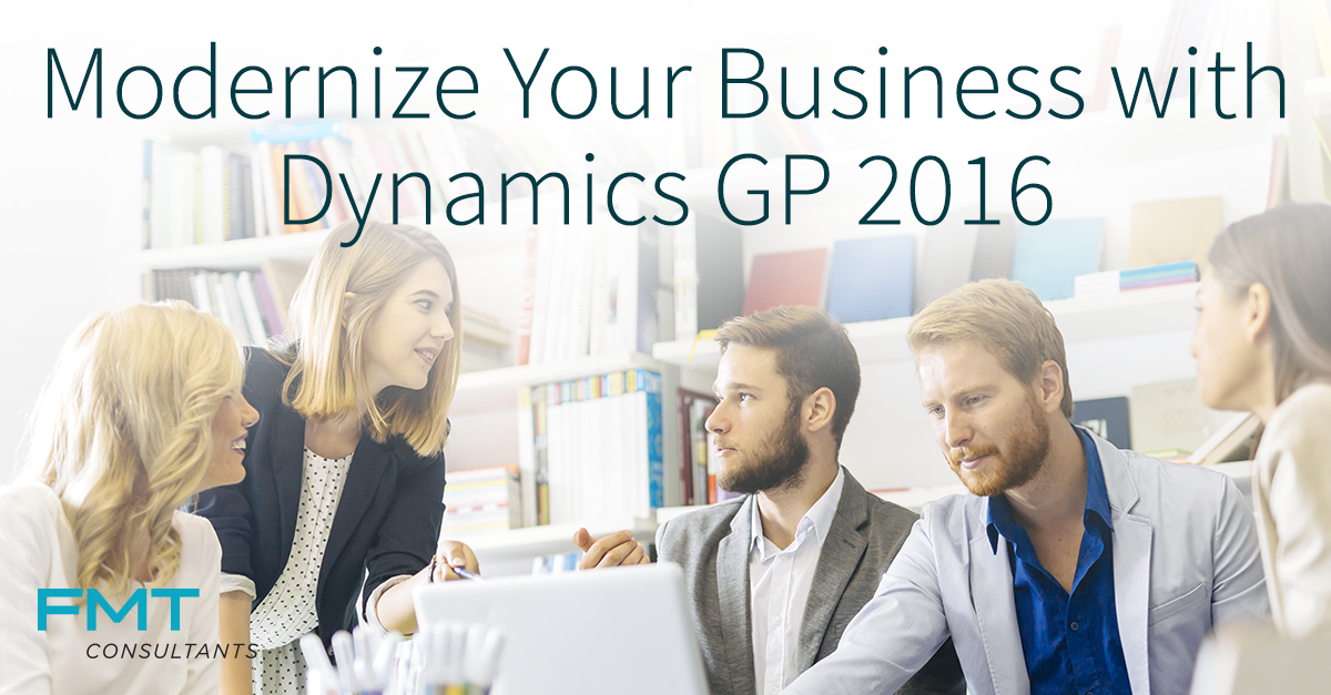 Consultants to demonstrate newly released Microsoft Dynamics GP 2016 ...