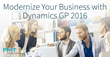 FMT Consultants to demonstrate newly released Microsoft Dynamics GP 2016 in San Diego and Los Angeles