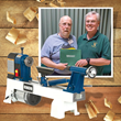 Penturner's Rendezvous Winner of Woodcraft Grand Prize Lathe Has Donated It to a Veteran
