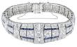 Lot #1070, a diamond and sapphire bracelet estimated at $12,000-15,000.