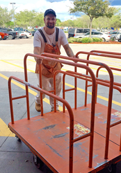 Photo of Aron Drensek working at Home Depot