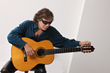 Musician Jose Feliciano with guitar