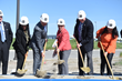 Salt Lake Community College President Deneece G. Huftalin (center) breaks ground for SLCC's new Westpointe Career and Technical Education Center.